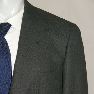 Oxxford Clothes Super 100 Bespoke Two Button Suit
